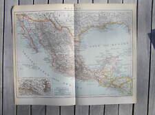 Antique map carte Mexico / landkaart Mexico 1894 mexiko karte landkarte