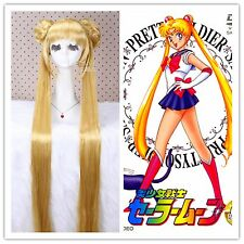 USA Ship 80cm Aino Minako Sailor Moon Long straight Yellow Cosplay Wig CW203