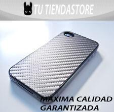Carcasa funda compatible iPhone 4 FIBRA DE CARBONO GRIS