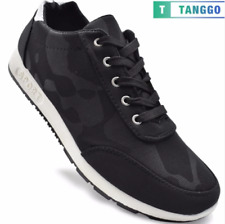 Tanggo Men's Rubber Shoes Casual Sneakers B-7 (black)
