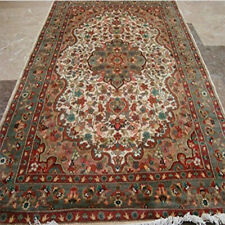 (6 x 4)' Gultarash Medallion Area Rugs Wool Silk Hand Knotted Carpet