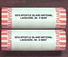 2018 APOSTLE ISLANDS NATIONAL LAKESHORE, WI  P & D (2) Rolls H/T **PRESALE**