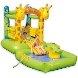 HÜPFBURG GIRAFFE Kinder Spiel-Pool Planschbecken mit Rutsche und Zubehör #8246
