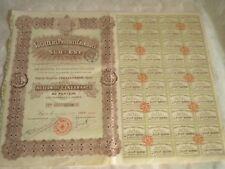 Vintage share certificate Stocks Bonds Societe des produits chimiques du sud est