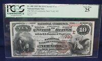 FR. 480 1882 BB $10 Charter #733 - National Bank Note PCGS 25 Very Fine - NY, NY