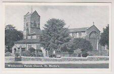 Cumbria postcard - Windermere Parish Church, St Martins