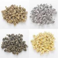 10-50 x Tibetan Silver Bronze PINE CONE CHRISTMAS 3D 13mm Charms Pendants Beads