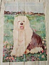 "Toland Sheep Dog Pastel Yard Garden Outdoor Flag Apx. 24 x 36"" Nylon"