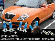 LANCIA YPSILON 2003-2011 SET COMPLETO LAMPADE BLU XENON + POSIZIONE A LED