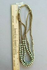 3 strand from Uganda Green/Gray African Paper Bead Necklace