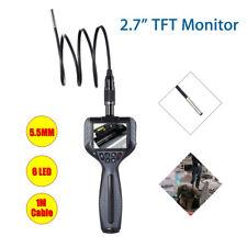 "2.7"" Industrial Video Inspection Camera Diameter 5.5mm Snake Scope Waterproof"