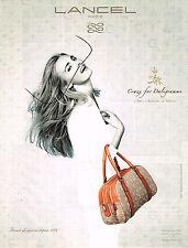 PUBLICITE ADVERTISING 035  2011  LANCEL  marquinerie sac DALIGRAMME