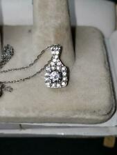 Bridal 925 Sterling Silver C.Z.  Pendant  Must See!