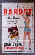 Female and the Flesh Original movie poster BRIGITTE BARDOT  Georges Lacombe 60