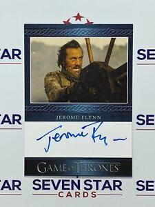 Game Of Thrones Iron Anniversary Blue Auto Jerome Flynn - Bronn VL