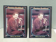 1993 COLLECT A CARD AMERICAN BANDSTAND JERRY LEE LEWIS GOLD FOIL AUTO #7/BASE 2