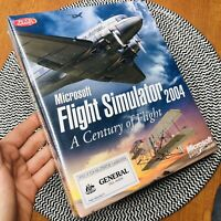New Sealed Microsoft Flight Simulator 2004 PC Big Box Game