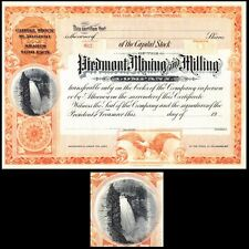 Piedmont Mining and Milling 19- unissued Stock Certificate