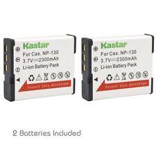 2x Kastar Battery for Casio NP-130 Exilim EX-ZR800 EX-ZR850 EX-ZR1000 EX-ZR1200
