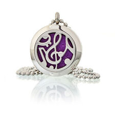 Aromatherapy Diffuser Necklace -Music Notes 25mm plus 10 different coloured pads