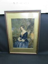"George Baxter Print ""Night Before Marriage"" Original Baxter Method Print 1854"