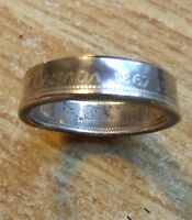 1867-1967 CANADA .800 SILVER CENTENNIAL LYNX COIN RING Size 10 or up to 11 or 12