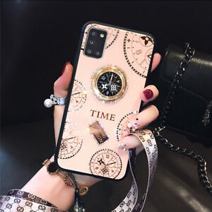 Samsung Galaxy S20 Plus Ultra A20 A51 A71 Case Luxury Ring Holder Bling Cover