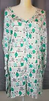 Lane Bryant Womens Top Size 14/16 Polka Dot Short Sleeve White Shirt Blouse