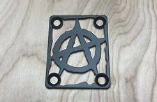 ANARCHY Neck Plate for your Guitar or Bass - Industrial Black