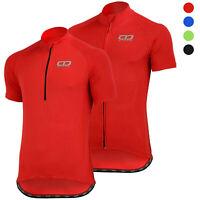 Didoo Mens Full Half Zip Cycling Jersey Short Sleeve Biking Top Bicycle T Shirt