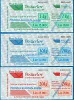 1997 - Servizio Postacelere - serie completa - nuova (MNH) - Sassone nn.4/6