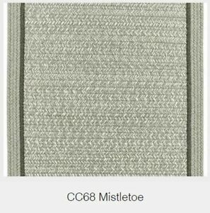 Casual Comfort Bordered Wool Country Cottage Classic Braided Rug Mistletoe CC68