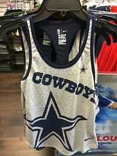 Womens Dallas Cowboys Ladies XS Tri-Blend Performance NFL Football Tank Top