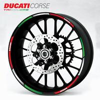 Ducati Corse wheel decals 12 rim stickers laminated set 848 899 1098 1198 1199