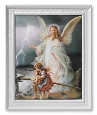 "Guardian Angel Framed Print(59-988) Under Glass NEW 8x10 Print 9.5""x 1.5"" Frame"