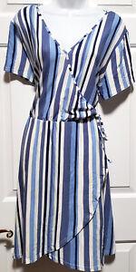 Derek Heart Plus Knit DRESS Wrap Style Size 2X Comfortable