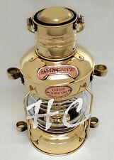 "Polished Brass Ship Lantern~Nautical Marine Anchor Lamp~Maritime Boat Light~14"""