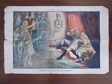 ORIGINAL WWI PROPAGANDA POSTER 1917 - LET ME SIT HEAVY ON THY SOUL TOMORROW