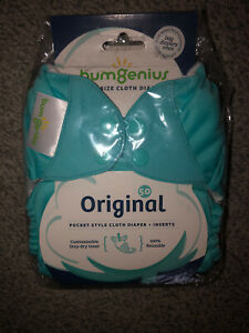 NEW One Size bumgenius cloth diaper Original pocket style + inserts