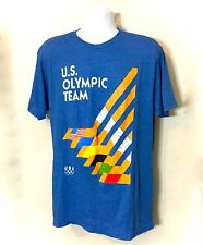 US Olympic Hockey Team Official Apparel Blue T Shirt Hockey Sticks Size XLarge