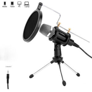 3.5 mm Professional Microfone Karaoke Mic for Computer Phone PC With Stand