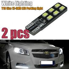 2-pc HID Xenon White Error Free T10 2825 W5W LED Bulbs For Parking City Light A