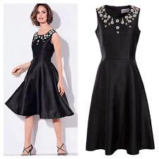 Kaliko Designer Size 14 Black Beaded Special Occasion DRESS Wedding Party £130