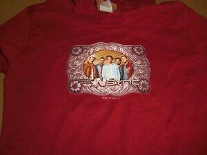 NSYNC Justin Timberlake - 2001 Kids/Woman's Long Sleeve Hoodie Shirt Medium