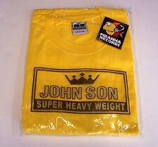 John Son Premium Quality Yellow T-Shirt XL 100% Cotton Piranha Records