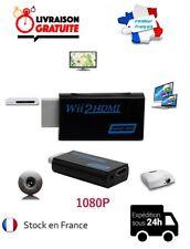 CONVERTISSEUR ADAPTATEUR CABLE CORDON WII NINTENDO CONSOLE HDMI HDTV