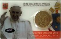 Coincard 0,50€ VATICAN 2018 n°9 - Le Saint Père - Brillant Universel