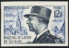 Francia. MH Yv 982a. 1954. 12 Fr Bleu Violet Et Azul. Sans Dentar. Magnifico