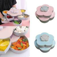 Snack Box Candy Dish Petal Rotating Dried Fruit Plate Snacks Storage Tray