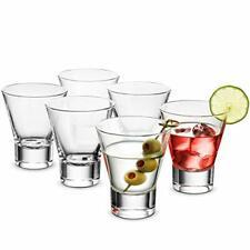 Bormioli Rocco YPSILON Cocktail Glasses set - 8.5 Oz - (6 Pack) Martini Glasses